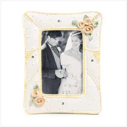 BEADED WEDDING FRAME-RESIN