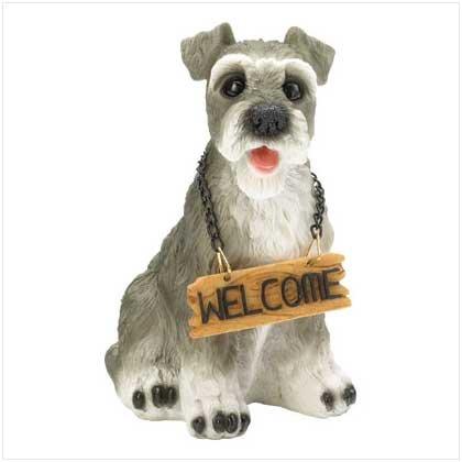 WELCOME DOG SIGN - SCHNAUZER