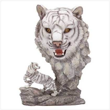 ALAB WHITE TIGER W/TIGER HEAD