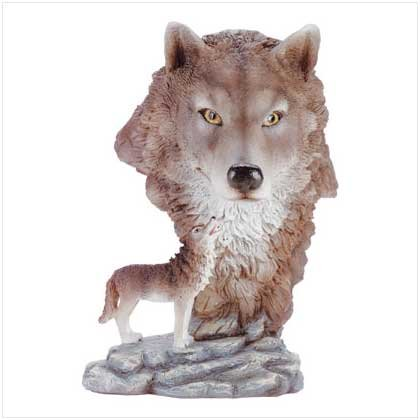 ALAB TIMBER WOLF W/WOLF HEAD
