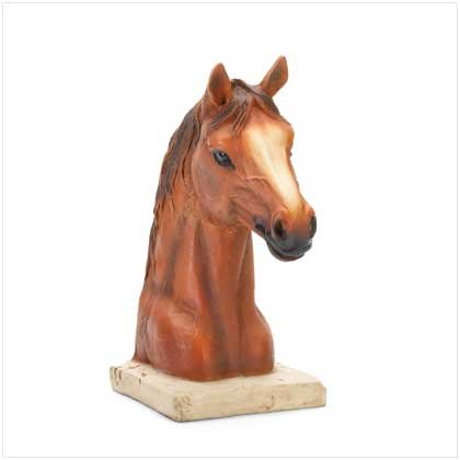 ALAB HORSE HEAD BUST-POLYRESIN