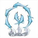 ROTATING BLUE DOLPHINS CIRCLE