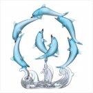 ROTATING BLUE DOLPHINS CIRCLE
