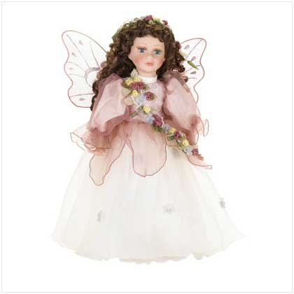 "16""H PORCELAIN FAIRY DOLL"