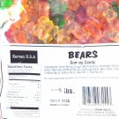Kervan Assorted Gummy Bears 5 Lb Bag