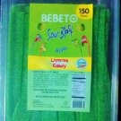 Sour Green Apple Candy Belts 150 count