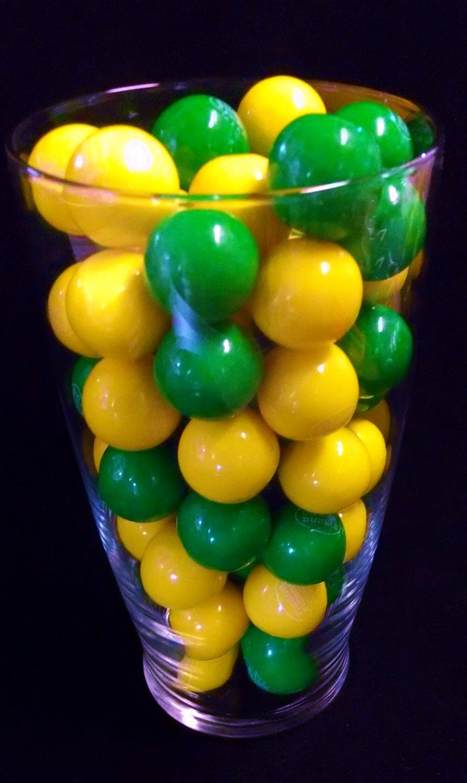 "Dubble Bubble Green & Yellow 1"" Gumballs 2 LBS"