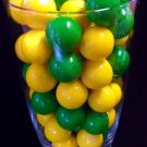 "Dubble Bubble Green & Yellow 1"" Gumballs 2 LBS"