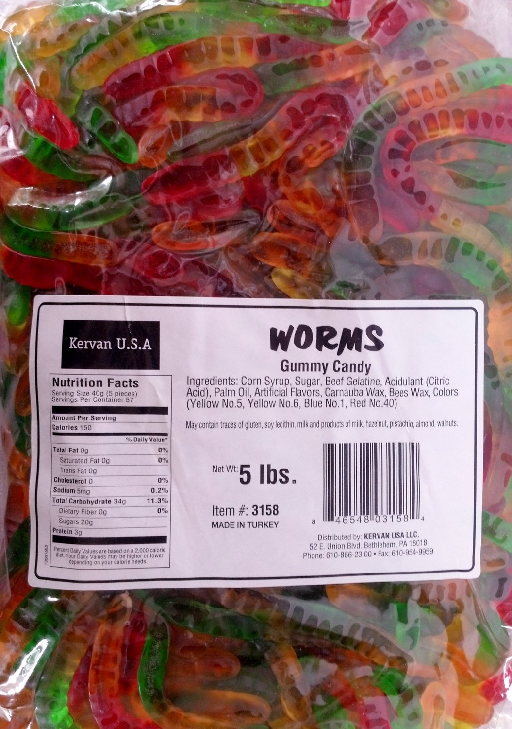 Kervan Gummy Mini Worms 5 Lbs