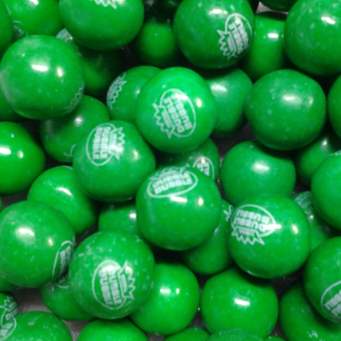 "Dubble Bubble Green 1"" Gumballs 2 Lbs"