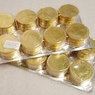 Gold Coins Chocolate flavor 96 pieces ( 2 packages of 48 )