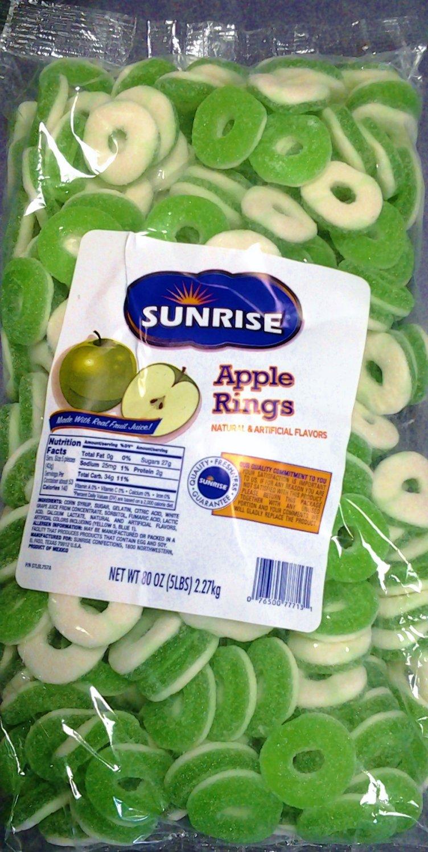 Apple Rings Gummy Candy 5 Lb Bag
