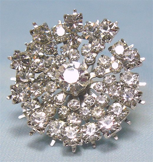 *Vintage and Gorgeous, Sparkling Rhinestone Starburst Brooch by Kramer of New York