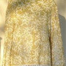 Incredible Sammy Wong Sequined Jacket/Top:  Sz L, Clear Irridescent Sequins w/ White Beads