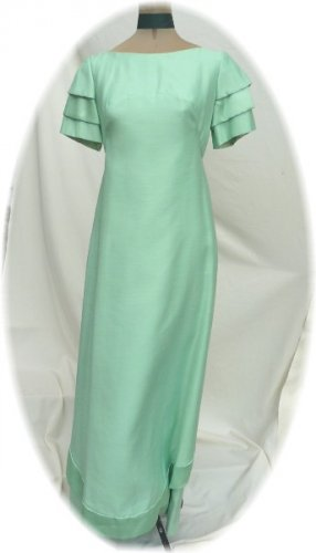 Elegance Personified!  Vintage 60's? Mint Green Emma Domb Formal Gown, Sz 11