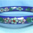 *Dainty Vintage Cloissone Bracelet Done in Blue with Delicate Pastel Flowers