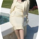 Vintage 50's Junior Accents 2 Pc. Wedding Suit:  Lovely in Off-White Wool w/Beaded Accents