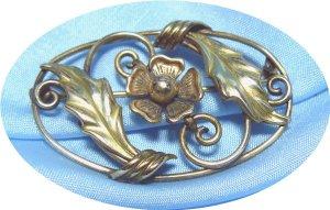 *Graceful Vintage Oval Brooch, Binder Bros. 1/20-12K GF, Lovely & Old-Fashioned