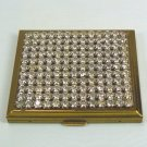 Vintage Rhinestone-topped Goldtone Compact:  Sparkling Accessory