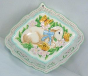 Vintage 1986 Le Cordon Bleu Easter Mold by Franklin Mint:  Sweet Lamb w/Butterflies!**