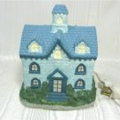Lovely House in Light Blue Stone, Darker Tile Roof; for Christmas Village?