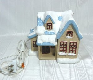 House of Lloyd Lighted House, Snow Covered, for Christmas Village