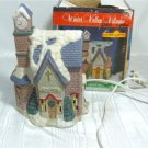 Winter Valley Church in Pink Brick and Stone, for Your Christmas Village
