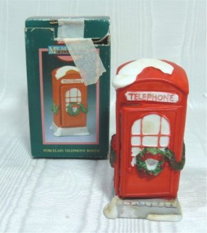 Memories Collection:  English Style PorcelainTelephone Booth