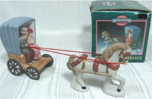 Memories Collection:  Porcelain Couple in Carriage with Top