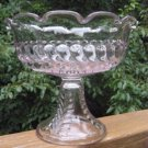EAPG ADAMS / US Glass PLUME COMPOTE 1874 Light Lavender
