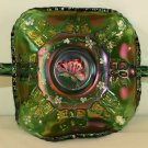 Purple FENTON Carnival Glass BUTTERFLY Handled BonBon BOWL ~ New  Emerald Green