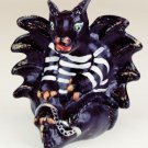 "FENTON Art Handpainted Glass ""BANDIT"" DRAGON Figurine"