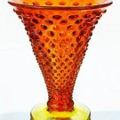 FENTON Art Glass HOBNAIL Flare VASE ORANGE SLICE NEW
