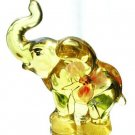 FENTON Glass BUTTERCUP Elephant Figurine SUN SPLASH
