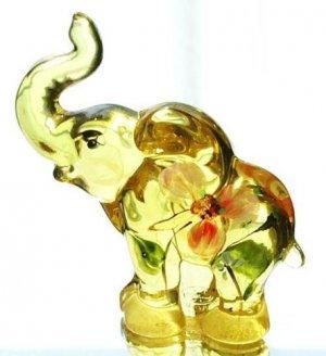 FENTON Glass BUTTERCUP Elephant Figurine SUN SPLASH