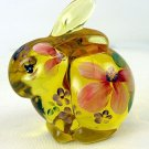 Signed FENTON Glass Buttercup YELLOW HandPainted BUNNY Rabbit Figurine NIB