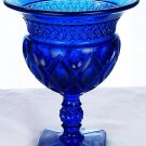 FENTON Art Glass Cobalt BLUE CAPE COD Comport Footed Candy Bowl New in BOX