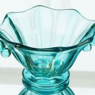 FENTON Art Glass CANDY NUT Panel BOWL Robins EGG BLUE