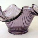 FENTON Art Glass Violet Purple Ribbed Bowl NEW in BOX