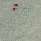 Rooster Napkin / Scarf Set