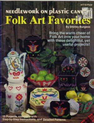 Plastic Canvas Folk Art Favorites Patterns 1983