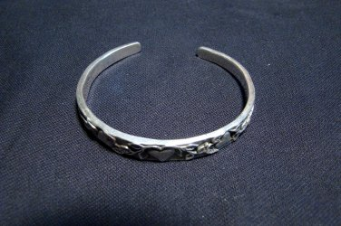 Jeep Collins Sterling Silver Cuff Bracelet Heart and Vine