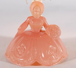 10 Quot High Vintage Pink Depression Glass Lady Figurine Small