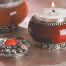 Jeweled-Lid Jar Candles (Sandalwood)