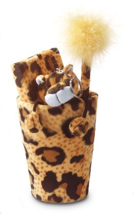 Plush Leopard Stationary Set