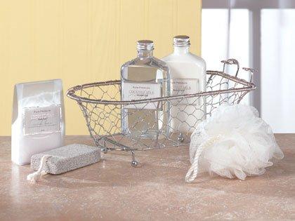 Gift Set in Wire Bath Tub
