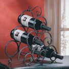 Wrought-Iron Scrollwork Wine Rack