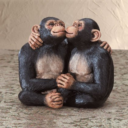 Kissing Monkey Couple