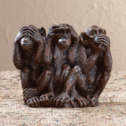 Liberty Bronze Innocent Monkeys