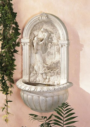 Angel Mother and Child Wall Fountain